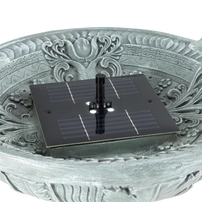 Prinzenbrunn suihkulähde 40x75cm linnun juoma-astia 1,2 W aurinkovoima betonioptiikka