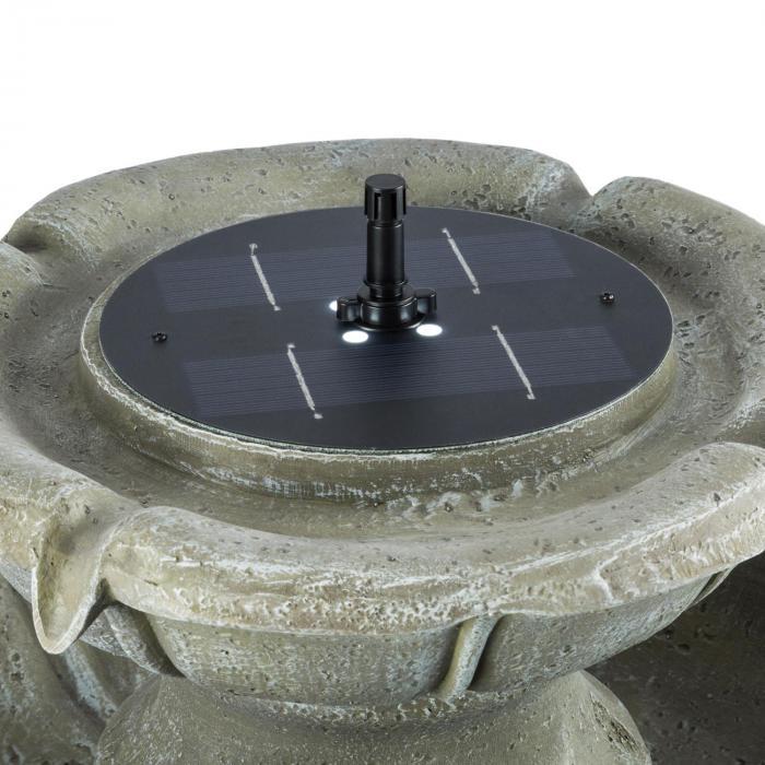 Adelsbrunn Fontana 55x80cm Ciotola Uccellini Pannello Solare da 1,4W