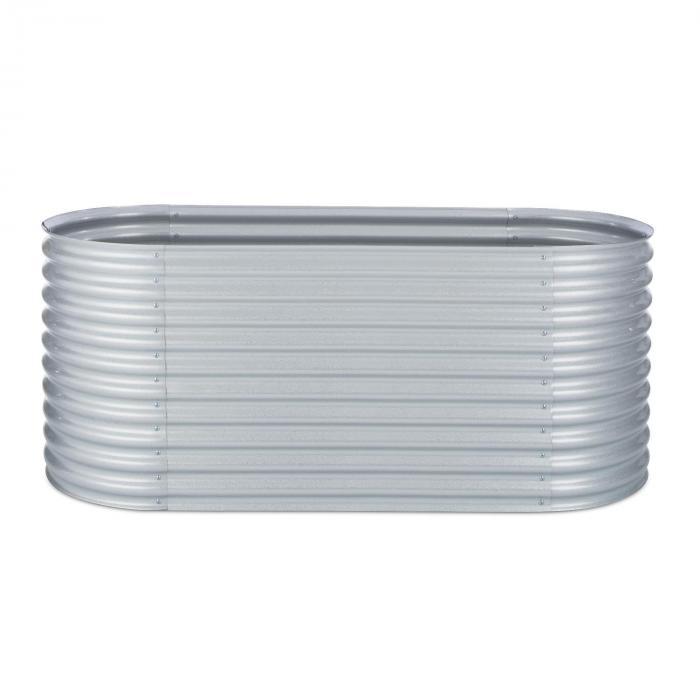 Kasvimaa/viljelylaatikko 2,0 m sinkki-alumiinipinnoite hopeanvärinen