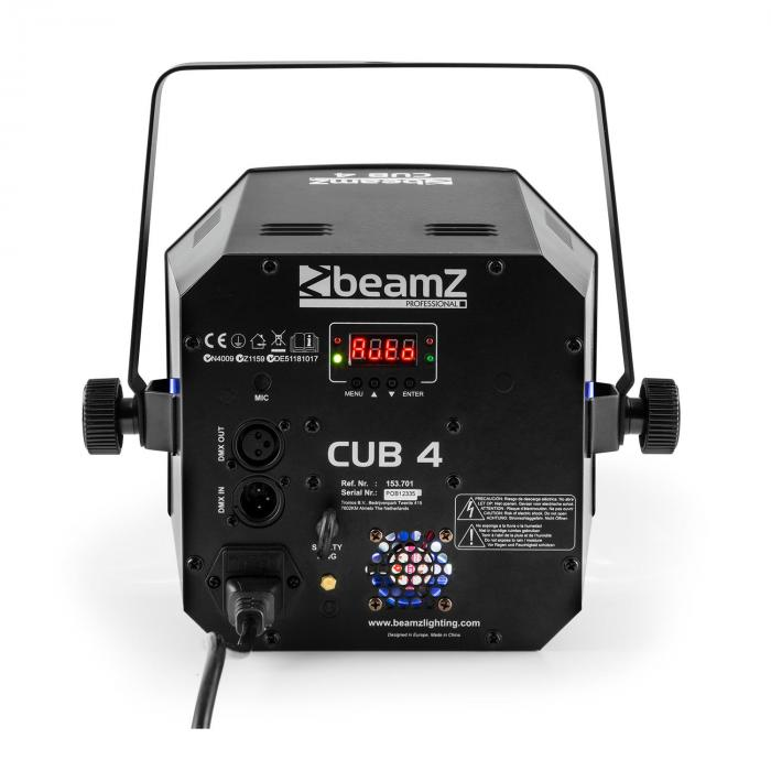 Cub4 II LED Effetto luminoso LED 2-in1 Quad derby con Moonflower 64 LED RGBAW