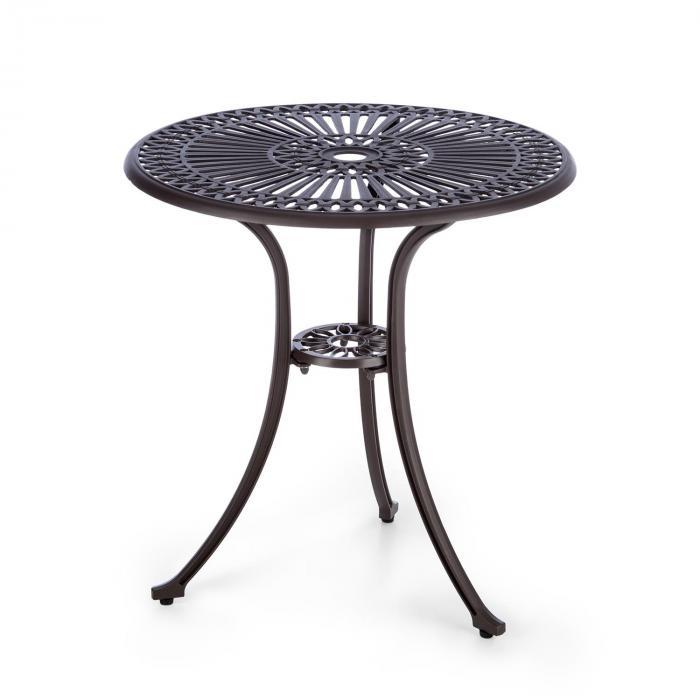 3-osainen pihakalustesetti pöytä 2 tuolia valualumiinia pronssinruskea