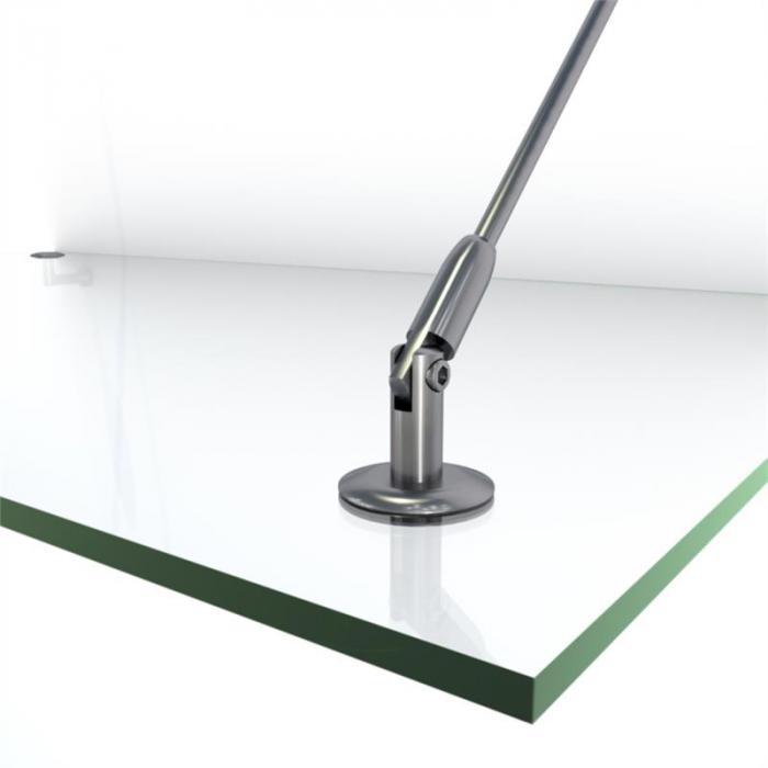 Skygate 150 Tettoia in Vetro per Porta 150x90 Acciaio Inox Vetro Trasparente