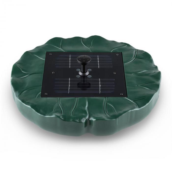 Waldbeck Sunfountain Fontana Galleggiante a Energia Solare Ninfea 4 Fontane Telecomando LED