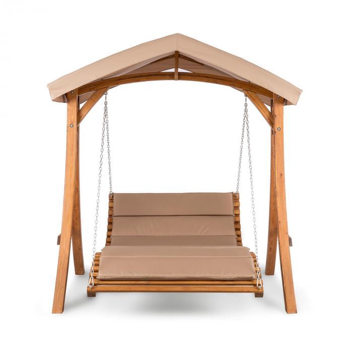 Bermuda hammock trädgårdgunga 130 cm 2-sitsig solsegel