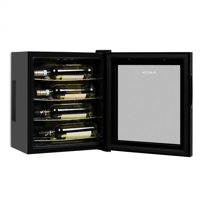 Vinarium Frigorifero per il Vino 14 l 4 Bottiglie Touch 38 db Porta di Vetro Nero