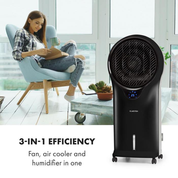 Whirlwind 3-in-1 Fan Air Cooler Humidifier 5.5L 90W Black