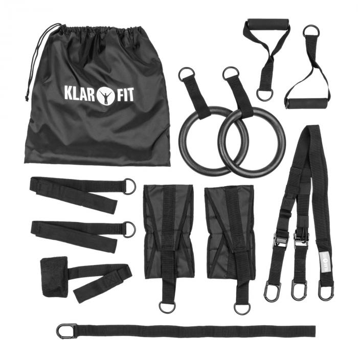 Pull Pack Schlingentrainer 12-teilig Tragetasche Polyester Stahl schwarz