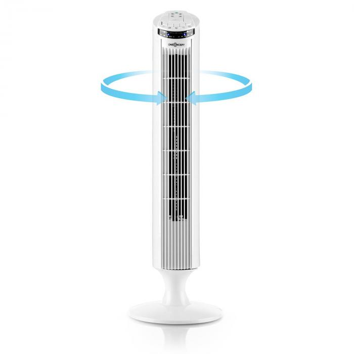 Blitzijs torenventilator staande ventilator 50W 45° oscillatie - wit