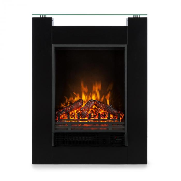 Studio 5 Electric Fireplace Fan Heater 900/1800 W Black
