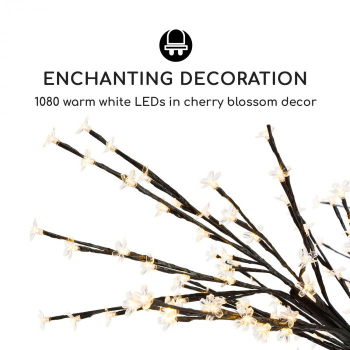 Hanami WW 300 lichtjesboom kersenbloesem 300 cm 1080 leds warm wit