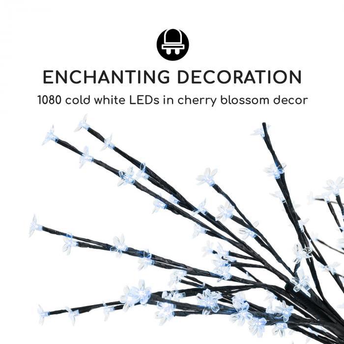 Hanami CW 300 lichtjesboom kersenbloesem 300 cm 1080 leds koud wit