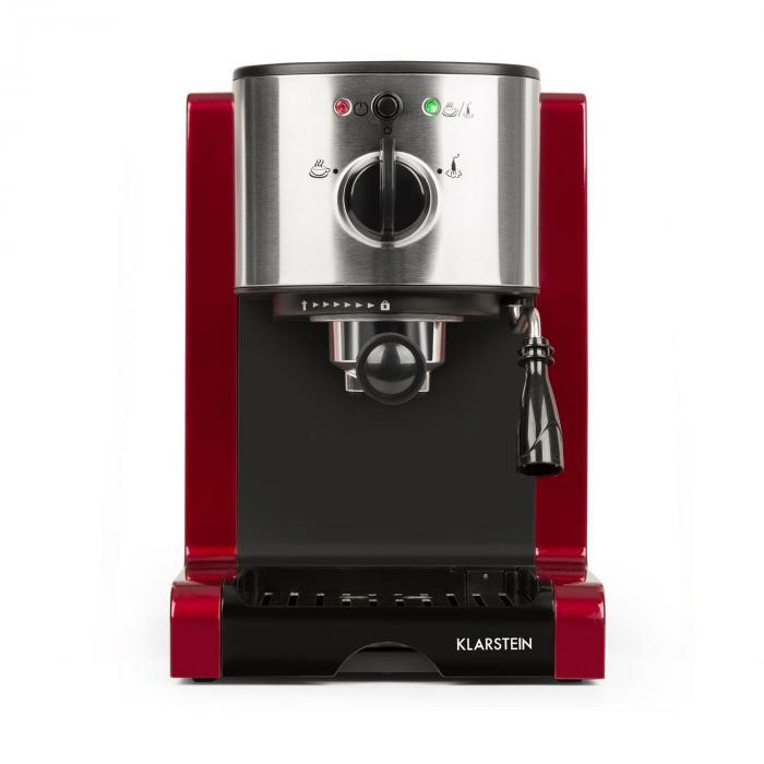 Passionata Rossa 15 espressokeitin 15 bar cappuccino maitovaahto punainen