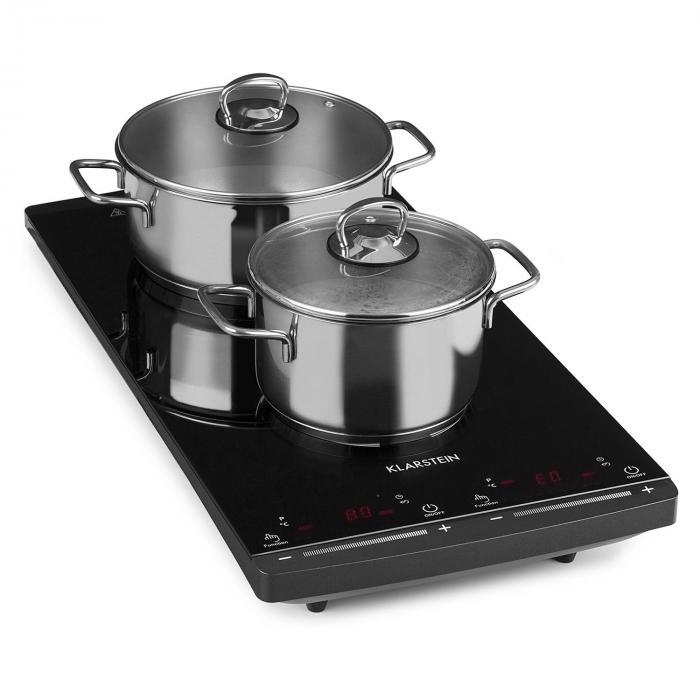 VariCook Slim induktiokeittotaso 2 keittolevyä 2900W 60-240 ° C musta