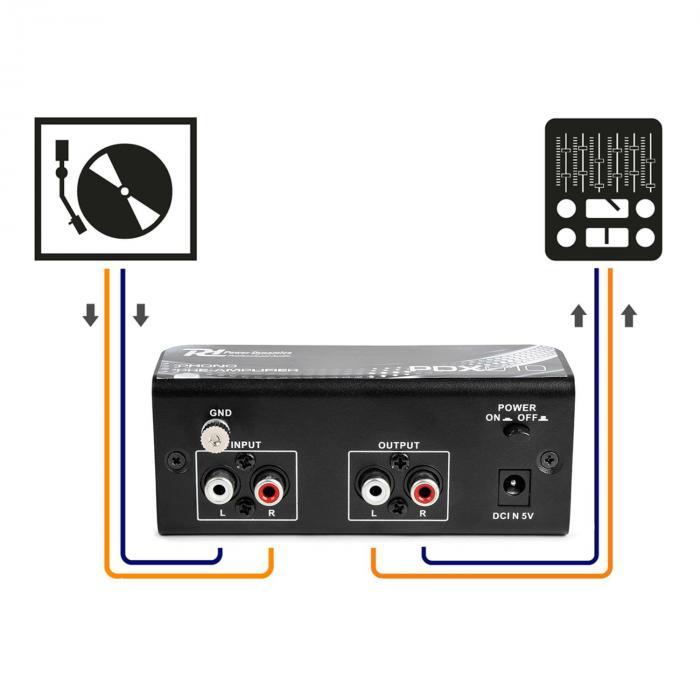 PDX010 RCA esivahvistin RCA-linja stereoesivahvistin