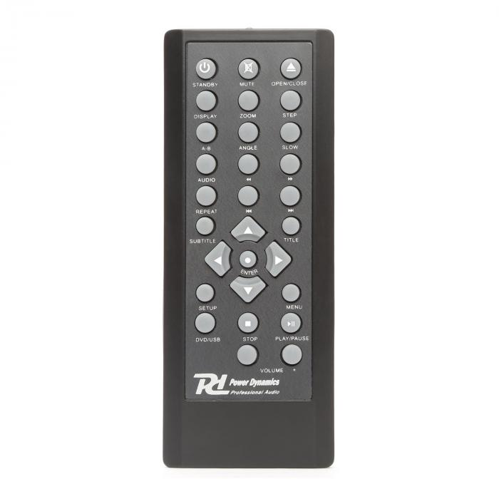 "PowerDynamics PDC150 19"" DVD / CD Player USB Coaxial Optical 2xMIC IR Remote Control"