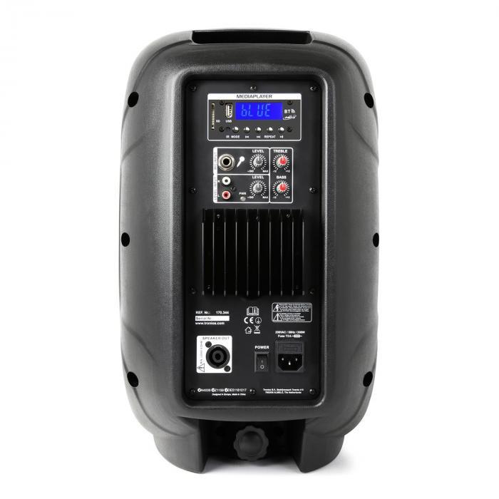 "AP1000ABT MP3 hi-end 10""aktiivikaiutin 400W vahvistimella, Bluetoothilla ja USB:llä"