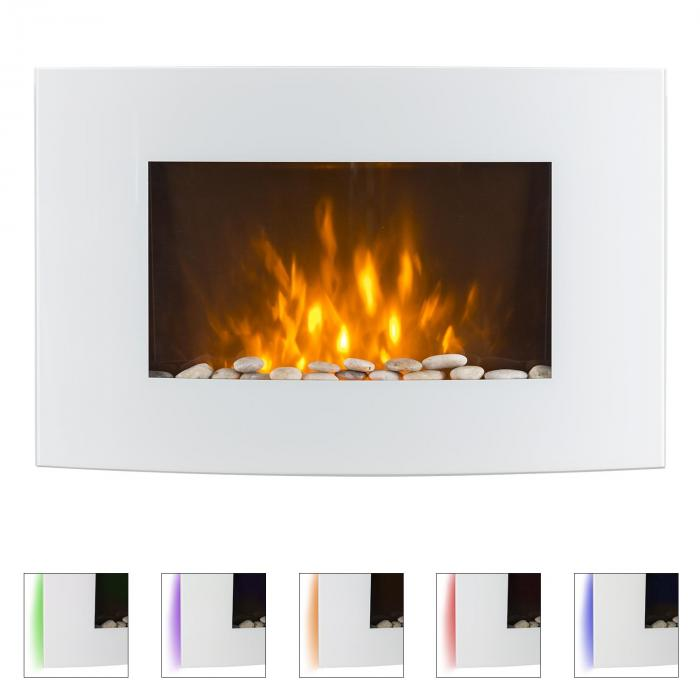 lausanne elektrischer kamin 2000 watt fernbedienung wei wei online kaufen elektronik star de. Black Bedroom Furniture Sets. Home Design Ideas