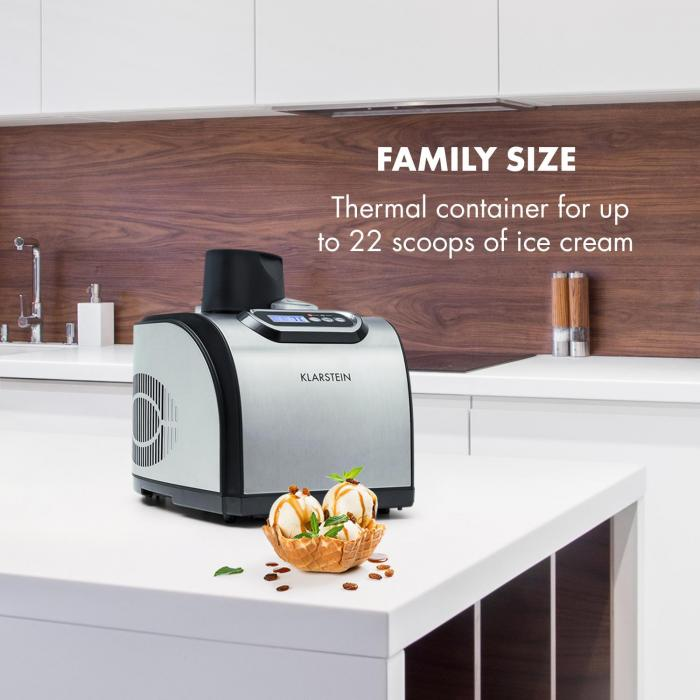 Sweet Dreams Ice Cream Maker Frozen Yoghurt Compressor 1.5l Stainless Steel