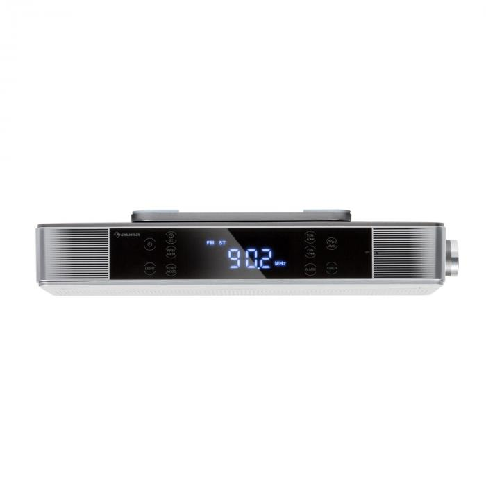 KR-140 Bluetooth Kitchen Radio Hands-free Function FM tuner LED light silver
