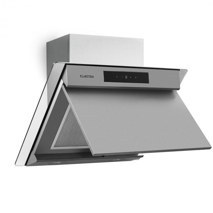Balzac 60 Cooker Extractor Hood 60 cm 210W 610m³ / h LED Touch Stainless Steel Glass