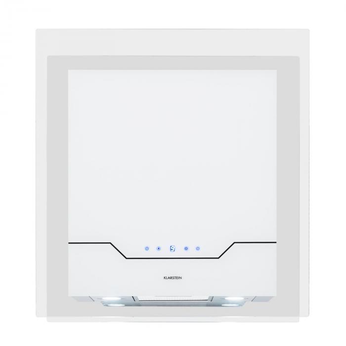 Karree Campana extractora Set de circulación de aire 60cm 640 m³/h LED Acero inoxidable blanca