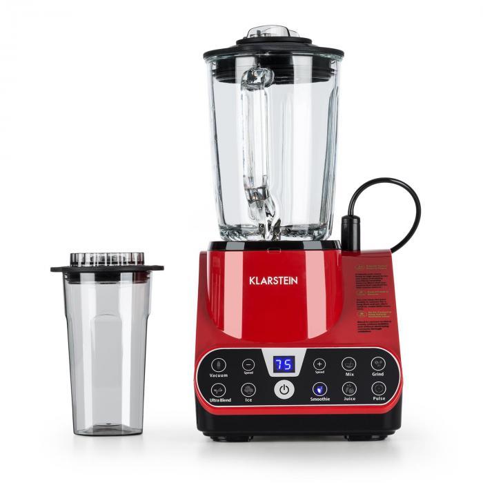 Airakles Vacuum Stand Mixer 1500W 30000 RPM 1.5L Glass Jug Red