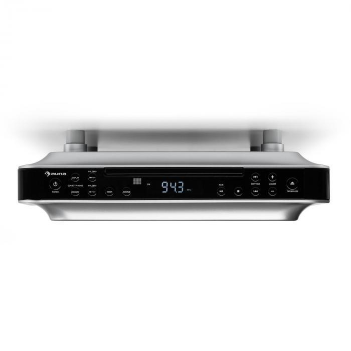 KRCD-100 BTKitchen Under Cabinet Radio CD MP3 Radio Black