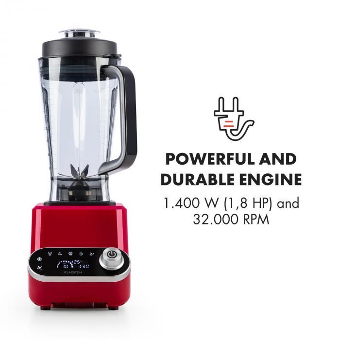 Olympus R Standmixer 1400W 1,8 PS Mixer per zuppe con funzione riscaldamento Rosso