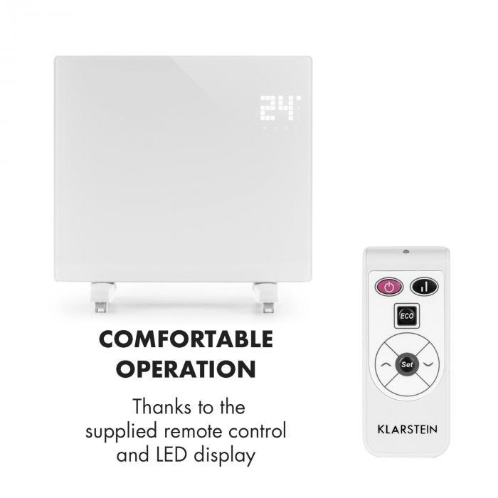 Bornholm SingleConvection Heater Thermostat Timer 1000W white