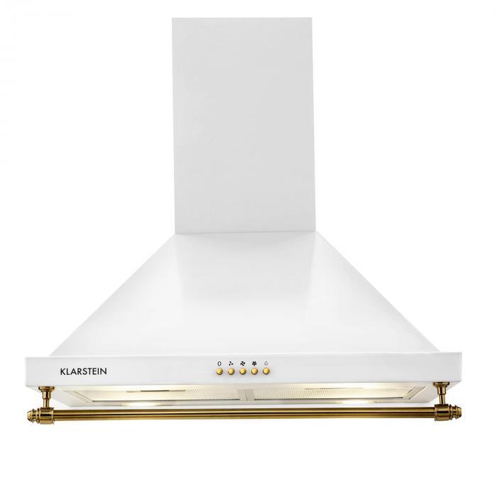 Splitter nya Klarstein Montblanc Spisfläkt 610m³/h 165W 2x1,5W LED Reling Svart GT-91
