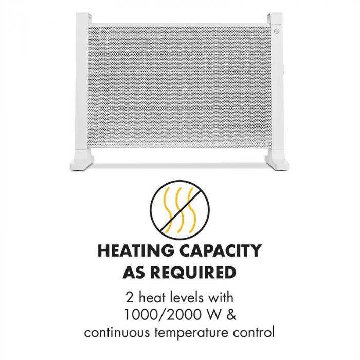HeatPalMica20 Grzejnik elektryczny Mica 2 stopnie grzewcze 2000W biały