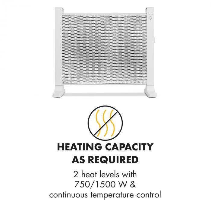 HeatPalMica15 Stufa Elettrica Mica 2 Livelli Di Calore 1500W Bianco