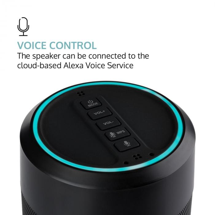 Intelligence Tube Speaker Alexa Voice Control Spotify BT WLAN