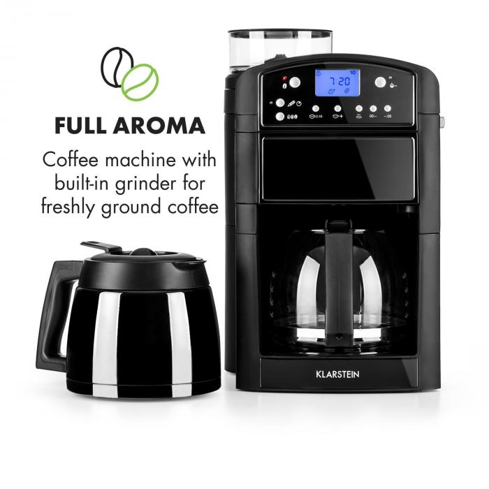 Aromatica Set Coffee Machine Grinder Glass Jug / Thermos Black