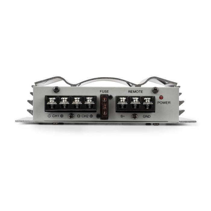 C300.2 Amplificador de 2 canais amplificador de potência automático 800W PMPO 200W RMS Prata
