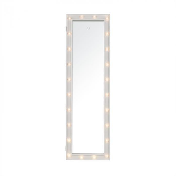 smilla armoire bijoux miroir 24x led suspension de porte serrure support de porte electronic. Black Bedroom Furniture Sets. Home Design Ideas