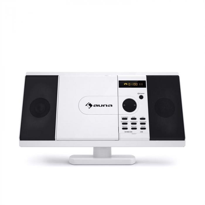 MCD-82 DVD-soitin stereolaitteisto USB SD valkoinen