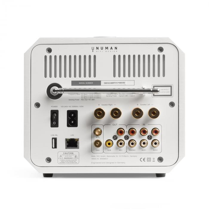 Unison Octavox Edition – All-In-One Receiver con Amplificatore bianco