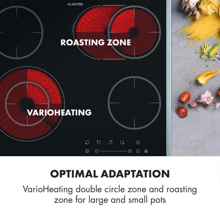 Virtuosa Slide Hob 4 zones 6600W Glass Ceramic Stainless Steel