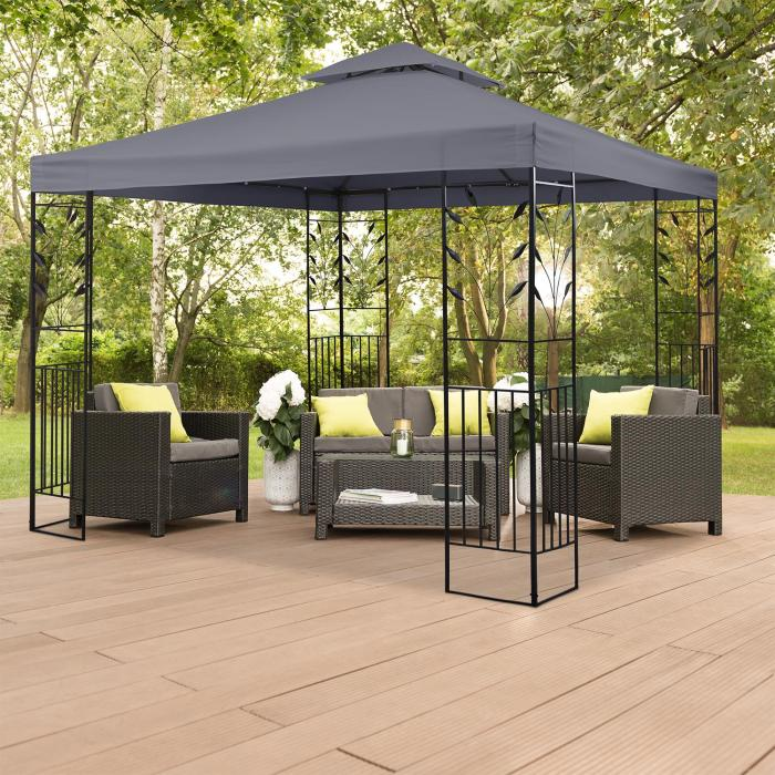 odeon roof grey ersatzdach f r odeon pavillon 3x3 m. Black Bedroom Furniture Sets. Home Design Ideas