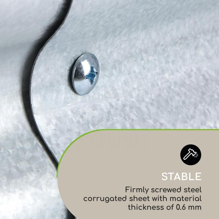 High Grow Extend Hochbeet-Verlängerung 100x80cm Stahl verzinkt Silber