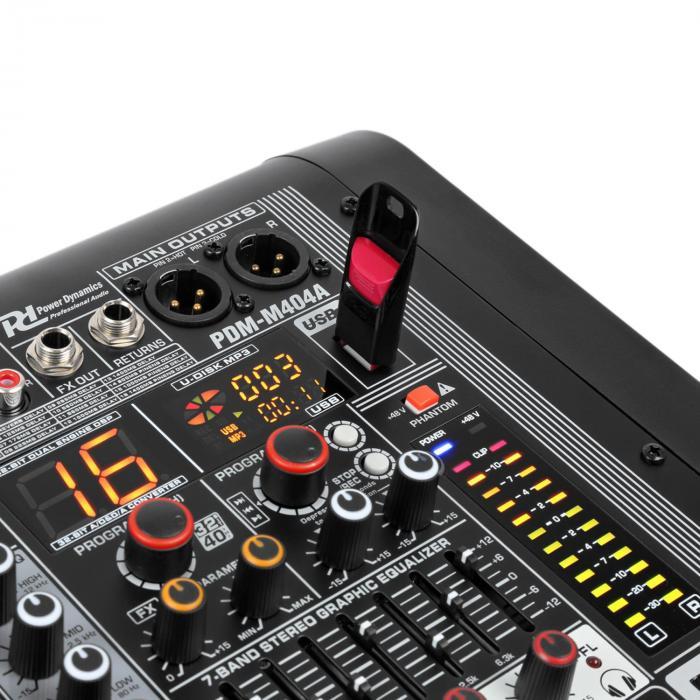 PDM-M404A 4 mikrofonisisääntuloa 24-bittinen Multi FX -prosessori USB-soitin