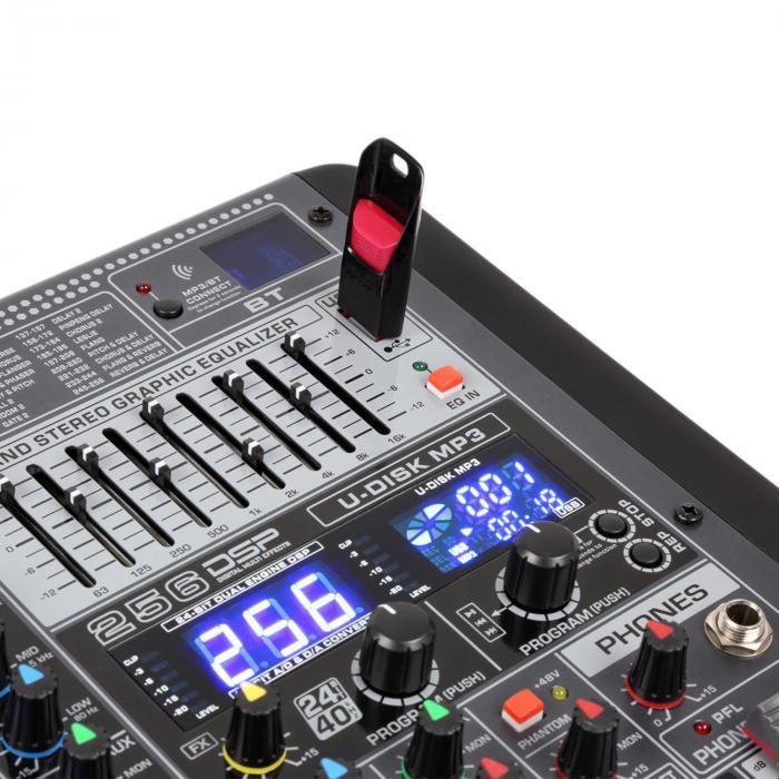 PDM-S1604 16-kanava mikseri DSP/MP3, USB-portti, BT-vastaanotin