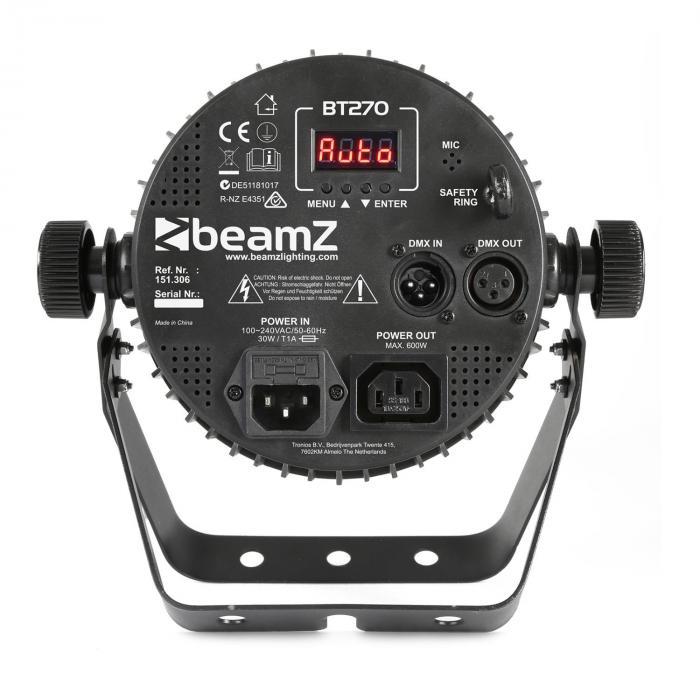 BT270 LED Flat Par LED-valonheitin 7 x 6 W 4 in 1 -LED-valot RGBW kaukosäädin