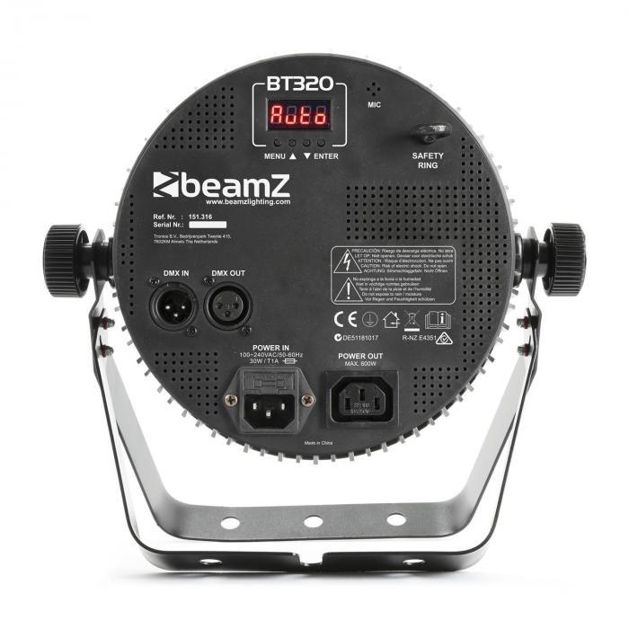 BT320 LED Flat Par LED-valonheitin 18 x 6 W 4 in 1 -LED-valot RGBW kaukosäädin