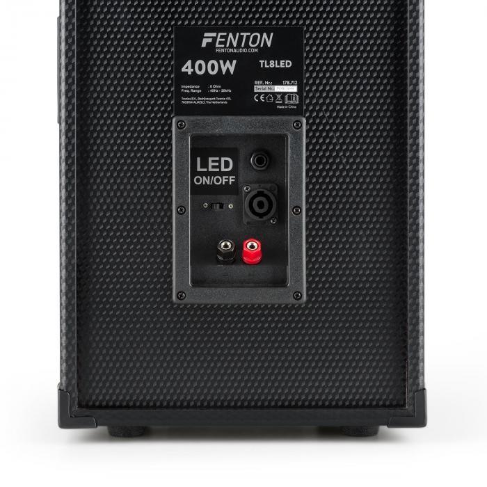 TL8LED PA Altoparlante PA + Skytec SPL1000BT PA Set di amplificatori PA