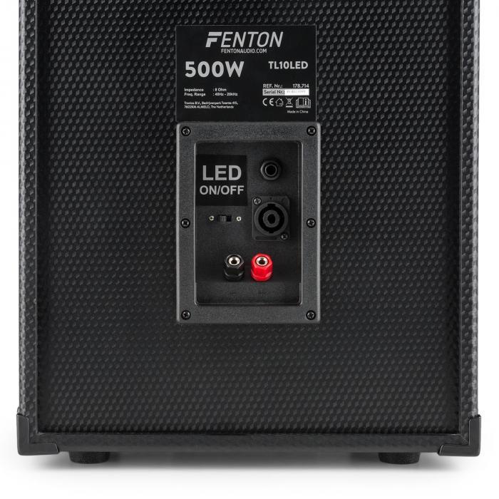 "TL10LED 3-tiepassiivikaiutin RGB-LED 10"" subwoofer 500 W diskanttikaiutin torvi"