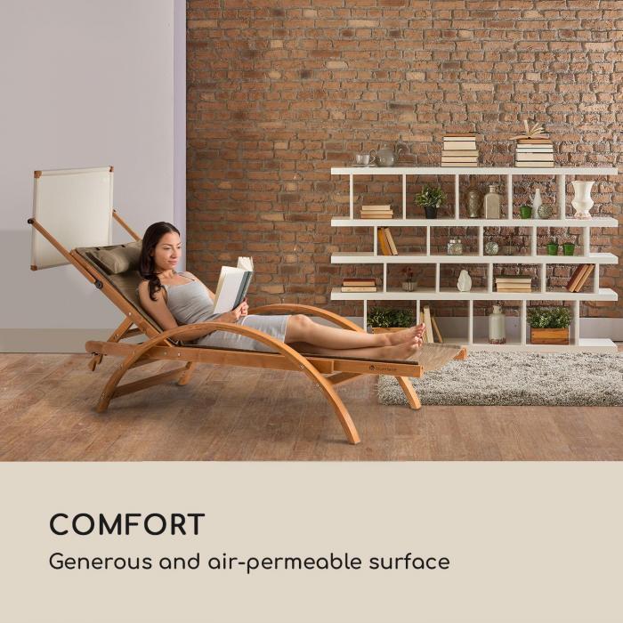 Panamera Gartenliegen 2er-Set Dach ComfortMesh creme