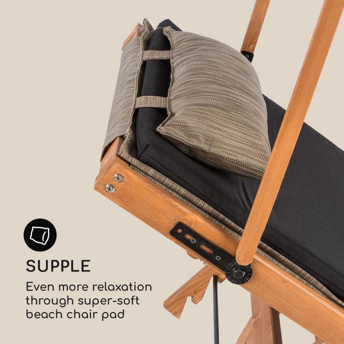 panamera rembourrage de chaise longue polyester mousse noir accessoire electronic star fr. Black Bedroom Furniture Sets. Home Design Ideas
