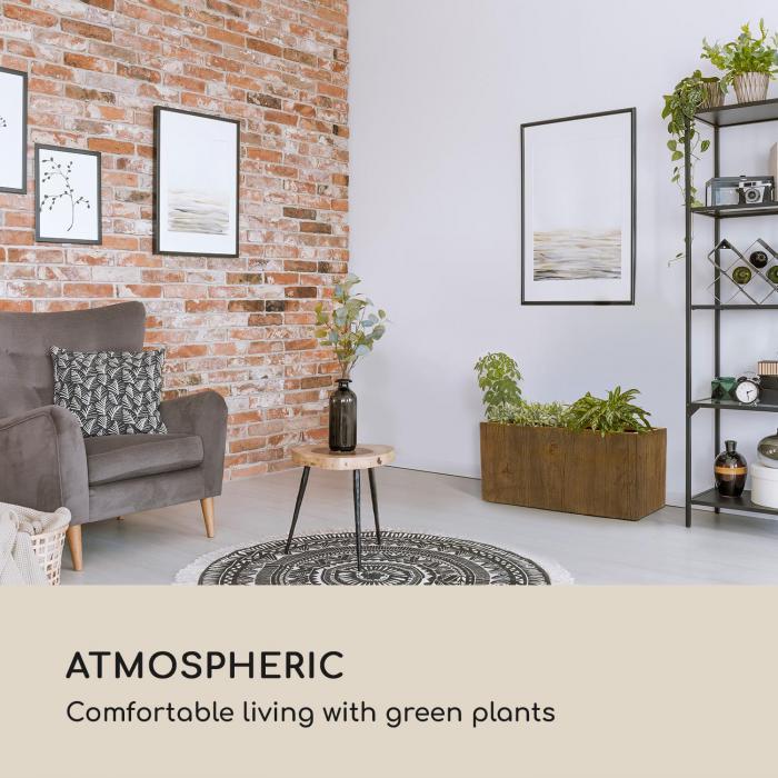 Timberflor kukkaruukku 80 x 40 x 40 cm lasikuitu sisä-/ulkokäyttöön ruskea